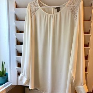 Long-sleeved Ivory  Blouse